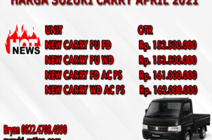 HARGA SUZUKI CARRY APRIL 2021